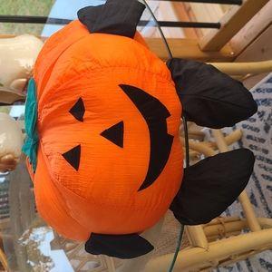 Vtg Pumpkin halloween plush